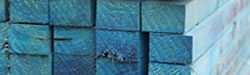 Blue treated battens